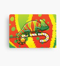 Christmas Chameleon Canvas Print