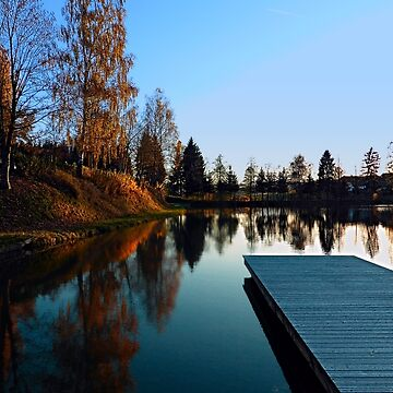 Romantic evening at the lake VI | waterscape photography by patrickjobst