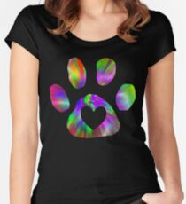 heart in paw Women's Fitted Scoop T-Shirt