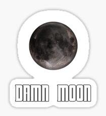 Damn moon Sticker