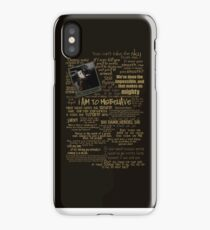 Captain Quotes Phone Case iPhone Case/Skin