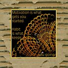Doily Corner With Quote by Sandra Foster