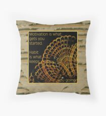 Doily Corner With Quote Throw Pillow
