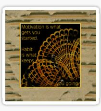 Doily Corner With Quote Sticker