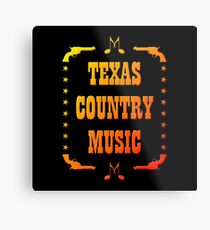 Colorful Texas Country Music Metal Print