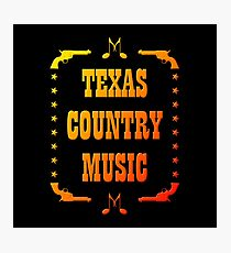 Colorful Texas Country Music Photographic Print