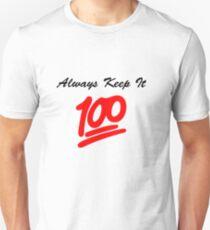 Keep it 100 Emoji Shirt Unisex T-Shirt