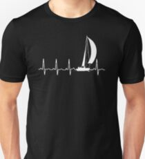 SAILING IN A HEARTBEAT T SHIRT Unisex T-Shirt