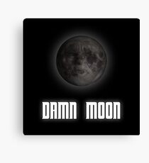 Damn moon Canvas Print