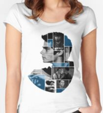 Dylan O'Brien Squares Women's Fitted Scoop T-Shirt