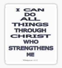 Philippinas 4:13 Sticker