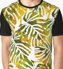 Sunset Tropical Leaves Abstract Graphic T-Shirt