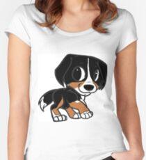 entlebucher mountain dog cartoon Women's Fitted Scoop T-Shirt