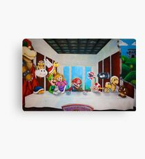 Mario the Last Supper Canvas Print