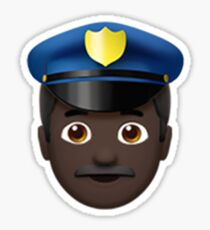 Emoji Police Officer (Black Male) Sticker