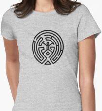 Westworld Black Maze Original Womens Fitted T-Shirt