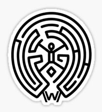 Westworld Black Maze Symbol Sticker