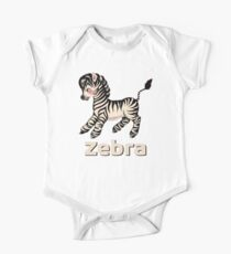 Cute Baby Zebra pattern vintage illustration for children Kids Clothes