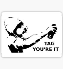 Tag You're It Sticker