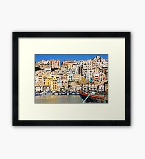 Town of Sciacca, Sicily, viewed from the port Framed Print