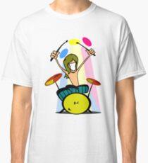 Drummer Cartoon Classic T-Shirt