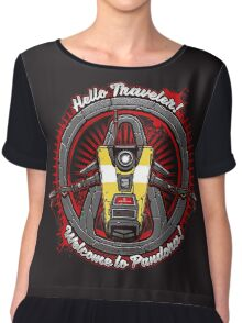 Borderlands - Claptrap art Chiffon Top