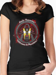 Borderlands - Claptrap art Women's Fitted Scoop T-Shirt