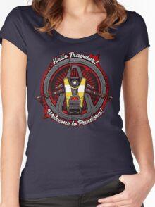 Borderlands - Claptrap art Women's Fitted Scoop T-Shirt