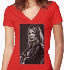 Rose I... Women's Fitted V-Neck T-Shirt