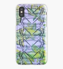 Jungle mirrored pattern on textile iPhone Case/Skin