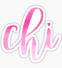 Chi Pink Ombre Sticker