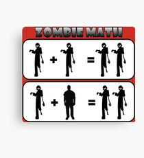 Zombie Math Canvas Print