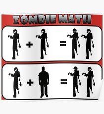 Zombie Math Poster