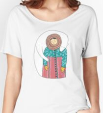 Lady And Her Polar Bear Friend Women's Relaxed Fit T-Shirt