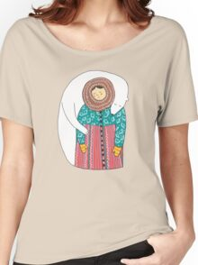 Lady And Her Polar Bear Friend T-shirt femme coupe relax