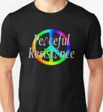 #Peaceful #Resistance - Rainbow, small T-Shirt