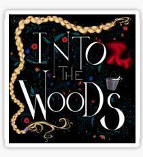 Into the Woods dark sticker Sticker