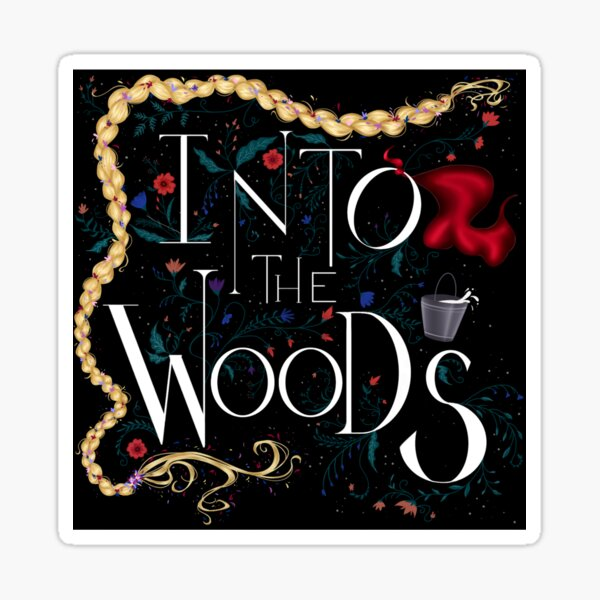 Into the Woods dark sticker Sticker