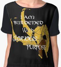I am burdened with glorious purpose Women's Chiffon Top