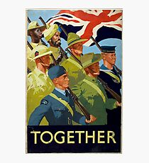 British WWII Poster - Together (1944) Photographic Print