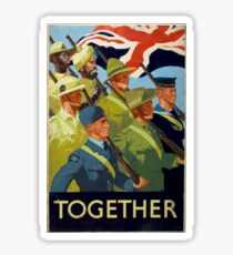 British WWII Poster - Together (1944) Sticker