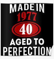happy 40th birthday painting mixed media posters redbubble