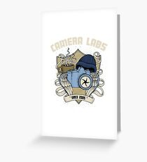 Cameralabs Photography Crest (Camera, Coffee, Beanie) Greeting Card