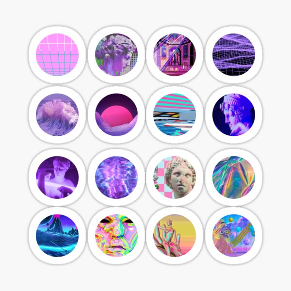 vaporwave aesthetic sticker set Sticker