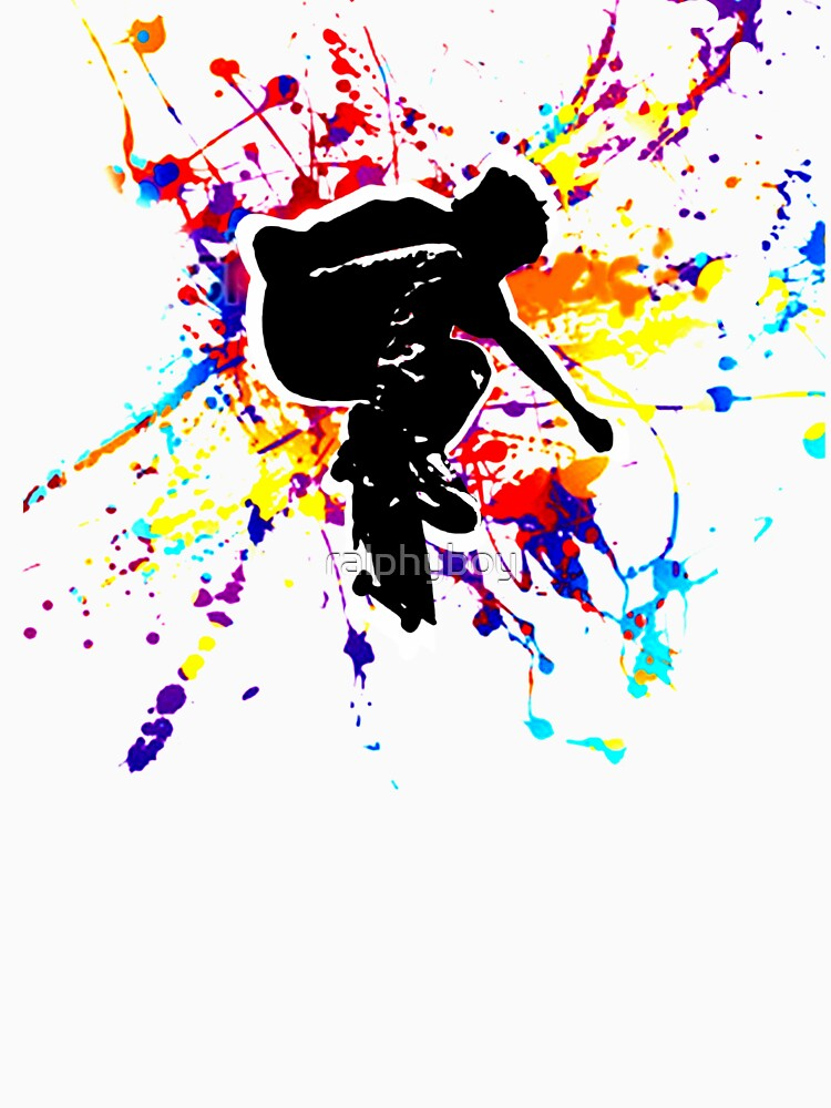 skateboarding t-shirt by ralphyboy