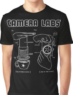 Cameralabs Photography and Coffee (White artwork) Graphic T-Shirt