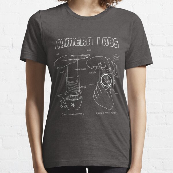 Cameralabs Photography and Coffee (White artwork) Essential T-Shirt