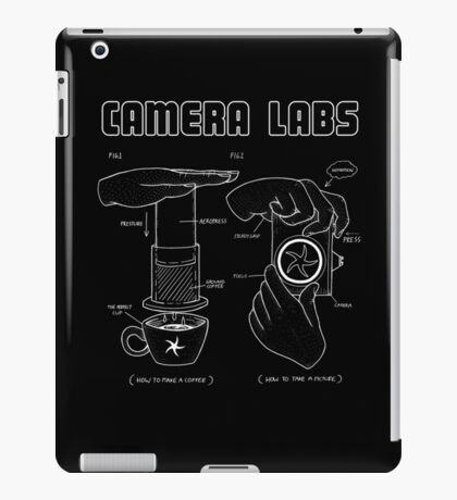 Cameralabs Photography and Coffee (White artwork) iPad Case/Skin