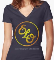 Electric Light Orchestra Women's Fitted V-Neck T-Shirt