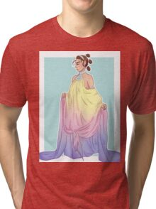 Rey in Padmé dress Tri-blend T-Shirt